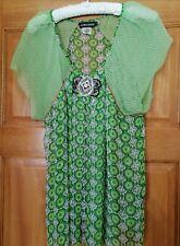 Silk Georgette Embellished top. Antik Batik, size L.