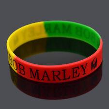 1 Pc BOB Marley Silicone Wristbands Bracelet Rubber Cuff Men Women Sports Bangle