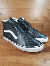 VANS Men's SK8 HI LX VAULT VLT Black Leather White Trim Supreme Shoes Size 12