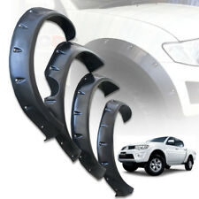 FENDER FLARES WHEEL ARCH BLACK WITH NUT FOR MITSUBISHI TRITON L200 MN ML 2005-09