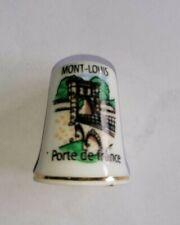 Dé à coudre de collection MONT LOUIS train jaune Pyrénées   A1