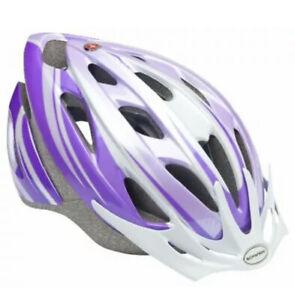 Schwinn Thrasher Bike Helmet Lightweight Microshell Design Youth Purple/White