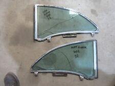 1955 Buick Century 2 door hardtop quarter window glass frame trim molding parts