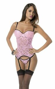 Women/'s Soft Bustier with Hose Escante Pink//purple//black SEXY-NWT