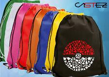 bola pokeball hecha pokemon go  mochila saco gimnasio hippie bolso bolsa deporte