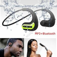 Waterproof Bluetooth Wireless Stereo Headphones Earphone for Swimming Sport Mic