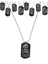 Biker Goth Dog Tags Dogtags Skull & Cross Bones Skater