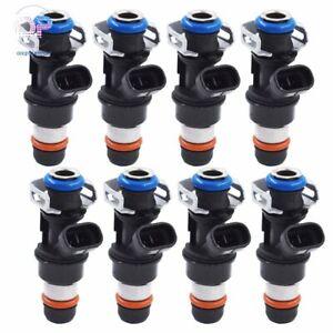 New 8PCS Fuel Injectors for GM Engine 4.8L 5.3L 6.0L 01-07 Exc.Flex Fuel