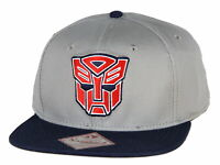 Transformers Classic Autobots Embroidered Logo Adjustable Snapback Hat Cap