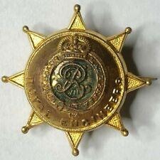 Boer War Era Royal Engineers lapel Badge Sweetheart brooch Gilt 28 x 28 mm