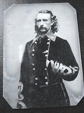 Rare Civil War Major General George A Custer tintype C521RP