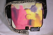 Chanel Runway Flower Power Graffiti Calfskin Leather Messenger Limited edition !
