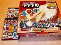 PS2 Namco Drum Controller Taiko No Tatsujin + Two Games + Official memorycard