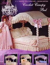 Crochet Canopy Bed fits Barbie Paradise 2nd Edition Crochet PATTERN Leaflet NEW & crochet bed canopy | eBay