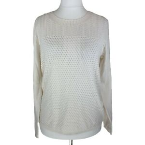 Laura Ashley New With Tags, Cream Open Knit Jumper, UK Size 12. 100% cotton.