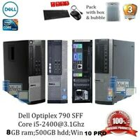 Fast DELL Core i5 PC COMPUTER DESKTOP TOWER 8GB 500GB HDD WINDOWS 10 PRO WiFi
