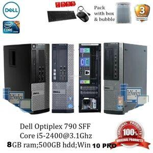 DELL PC COMPUTER DESKTOP CORE i5  8GB 500GB HDD WINDOWS 10 PRO WiFi FREE DELIVER