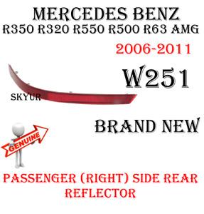 Passengers Side Rear Bumper Reflector For Mercedes R350 R320 R500 R63 GENUINE