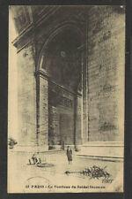 1929 PARIS LE TOMBEAU DU SOLDAT INCONNU FRANCE POSTCARD