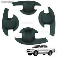 Matte Black Bowl Housing Handle Cover 4D Toyota Hilux Vigo Sr5 Mk6 Mk7 2005-2014
