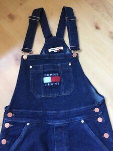 Wie Neu!!! Hilfiger Tommy Jeans, Latzhose, Jeans, Größe S, dunkelblau