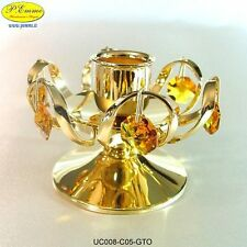 CANDELIERE 1 FIAMMA GOLD CRYSTOCRAFT SWAROVSKI ELEMENTS