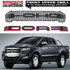 MATT BLACK FRONT GRILL WITH LED FOR FORD RANGER T6 MINOR CHANGE XLT PX 2015 2016