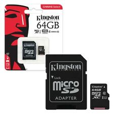 64GB Kingston Canvas Select Micro SD Memory Card 80MB/s UHS-1 Class 10 +ADAPTER