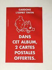 TINTIN BROCHURE PUB GARDON L ESPRIT TINTIN / HERGE / MOULINSART / ANCIEN