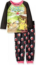 Girls Pokemon 2 Piece Polyester Pajama Set - Size 6 - Brand New