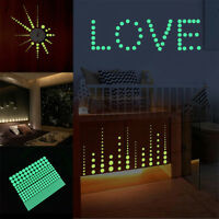 407pcs glow in the dark star wall stickers round dot luminous kids room decor ^