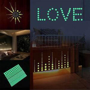 407pcs glow in the dark star wall stickers round dot luminous kids room decor Gw