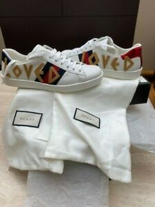 Baskets GUCCI HOMME NEUVES BRODEES LOVED TAILLE 41 TAILLE 7 ITALIENNE