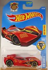 2016 Hot Wheels #237 HW Games 7/10 SCOOPA Di FUEGO Red w/Black Pr5 spoke wheels