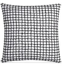 "HOTEL COLLECTION LINEN PLAID 22"" X 22"" THROW PILLOW MSRP $150 NEW WITH TAGS"