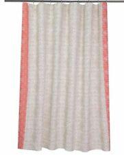 Threshold Shower Curtain Fabric Coral Matelsse White 72 x 72 Bath New