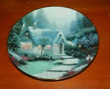 Thomas Kinkade Collector Plate Garden Cottages of England Cedar Nook Cottage
