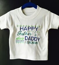 Personalized Baby T-shirt  Fathers Day Outfit, Lovely New Baby Boy or Girl Gift