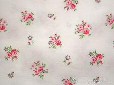0,5 m Stoff ÖKOTEX ♥ Baumwolle Rosen weiß Westfalenstoff Blumen Prinzessin