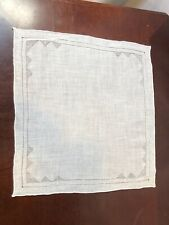 Vintage Delicate White Cotton Hand Embroidery Handkercheif Sz 12�x12� New Other