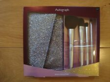 BNWT 4x MAKE UP BRUSH COLLECTION & SPARKLE CARRY CASE M&S Autograph RRP £22.50