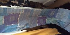 "Blue Purple Silver Curtain Pelmet 330cm Wide x12""deep &1pair of tie backs (new)"