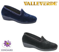 SCARPE DONNA VALLEVERDE PANTOFOLE CIABATTE CHIUSE INVERNO MADE IN ITALY 26208