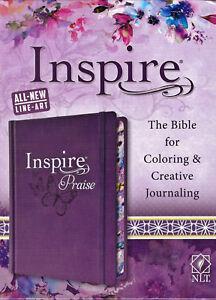 NEW NLT Inspire Praise Coloring Journaling Bible Large Print Living Translation