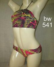 For Conservative Girls: LEOPARD PRINTS STAMPED CROP TOP Bikini-Made in Brazil-S