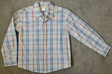 ~ SEED KIDS ~ Boys Long Sleeve Stylish Checkered Shirt ~ Sz 7-8