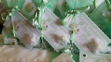 Baby shower favour bags organza filled bags x12 MINT GREEN