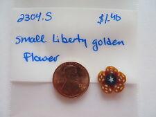 JABC button #2304.s - Small Liberty Golden Flower