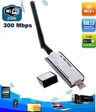 Mini Clé USB WIFI Adaptateur Carte Réseau Sans Fil LAN WLAN avec Antenne 300Mbps