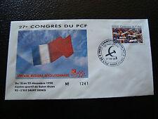 FRANCE - enveloppe 21/12/1990 27e congres du PCF (cy7) french (Z)